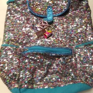 Justice sequin backpack